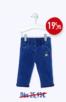 Jean 5 poches stretch doublé jersey