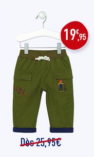 Pantalon battle en toile doublé
